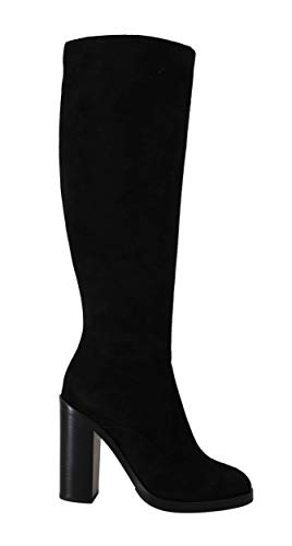Dolce & Gabbana Damen Stiefel Black Suede Leather Knee High Boots Size:40