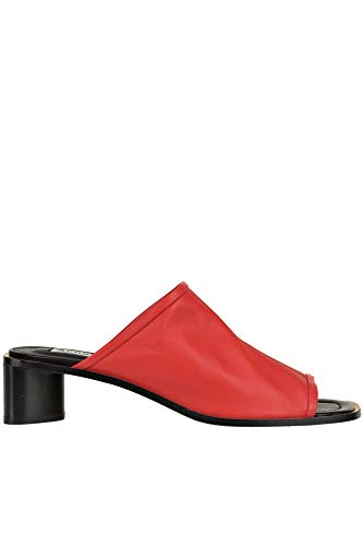 ACNE STUDIOS Leather Open-Toe Mules Woman Red 41 IT