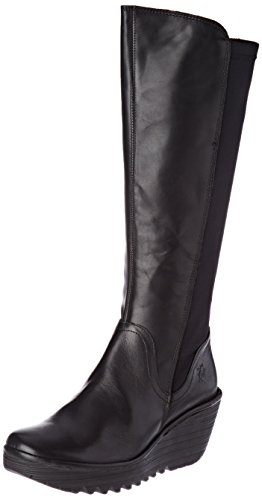 FLY London Damen Yeve779fly Stiefel, Schwarz (Black), 38 EU