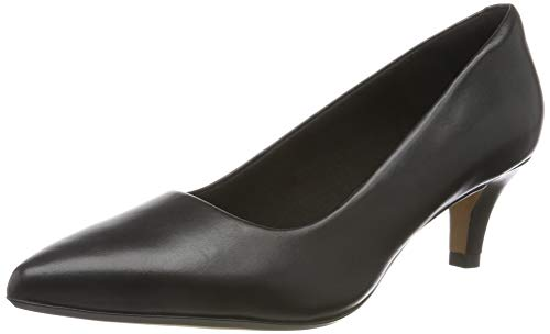 Clarks Damen Linvale Jerica Pumps, Schwarz (Black Leather), 37 EU