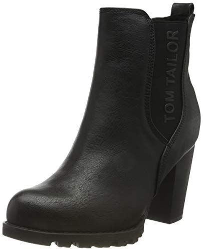 Tom Tailor Womens 9090204 Ankle Boot Classic Boot, Black, 39 EU