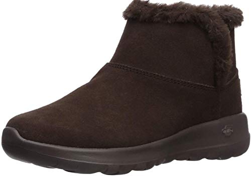 Skechers Damen ON-The-GO Joy - Bundle UP-15501 Kurzschaft Stiefel, Braun (Chocolate Suede Chocolate), 36 EU