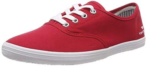 TOM TAILOR Damen 6992401 Sneaker, Rot (Red 00004), 39 EU