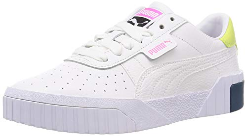PUMA Damen Cali WN's Sneaker, White Luminous Pink, 41 EU
