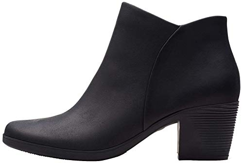Clarks Damen Un Lindel Zip Stiefeletten, Schwarz (Black Oily Leather), 37 EU