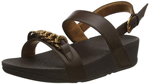 Fitflop Damen Lottie Twisted Chain Sandalen, Braun (Chocolate Brown 167), 41 EU