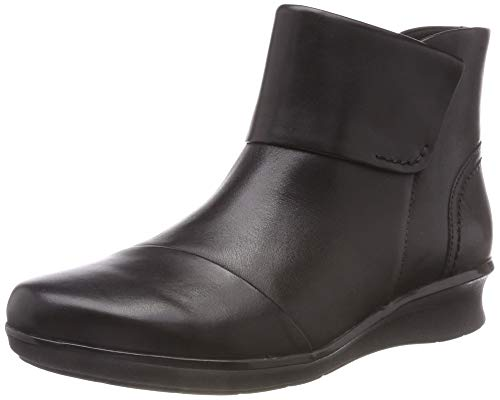 Clarks Damen Hope Track Stiefeletten Kurzschaft Stiefel, Schwarz (Black Leather), 40 EU