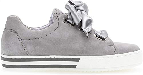 Gabor 26.505 Damen Sneaker,Skater Sneaker, Frauen,Sportschuh,Low-Top,Comfort-Mehrweite,Optifit- Wechselfußbett,Light Grey,6 UK