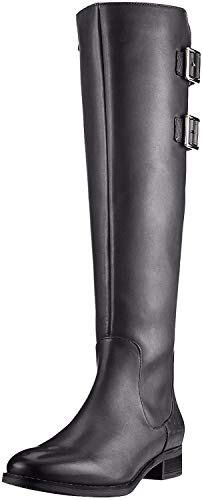 Clarks Damen Netley Ride Stiefeletten Kurzschaft Stiefel, Schwarz (Black Leather), 41 EU