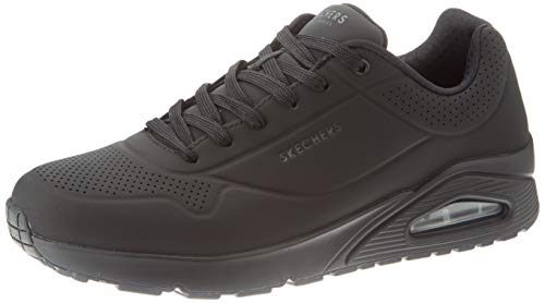 Skechers Men's Uno - Stand on Air Trainers, Black (Black Durabuck/Trim Bbk), 11 UK (46 EU)
