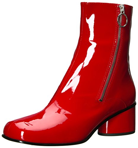 Marc Jacobs Damen Crawford Double Zip Ankle Boot modischer Stiefel, rot, 36.5 EU