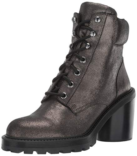 Marc Jacobs Damen Crosby Hiking Boot Stiefelette, Dunkles Silber, 36.5 EU