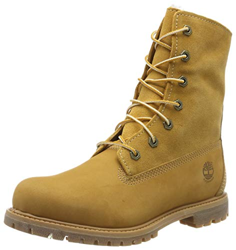 Timberland Authentics FTW_Authentics Teddy Fleece WP Fold Down 8329R, Damen Stiefel, Gelb (Wheat), EU 37.5 (US 6.5)