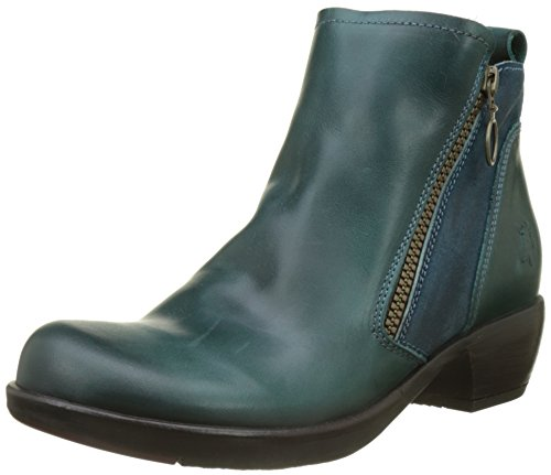 Fly London Damen Meli Stiefel, Grün (Petrol), 40 EU