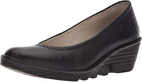 FLY London Damen Pump Geschlossene Ballerinas, Schwarz (Black), 40 EU