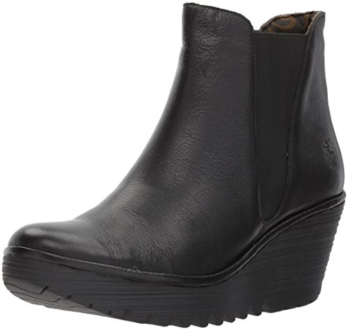 Fly London Damen Yoss Schlupfstiefel, Schwarz (Black 000), 38