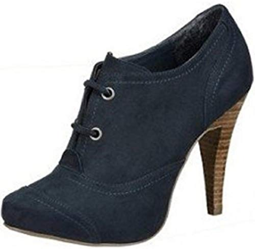 Laura Scott High Heel Ankleboots Blau Gr. 38