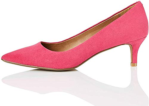 Amazon-Marke: find. CONNIE-S2C1-Court Pumps, Pink (Hot Pink), 38 EU