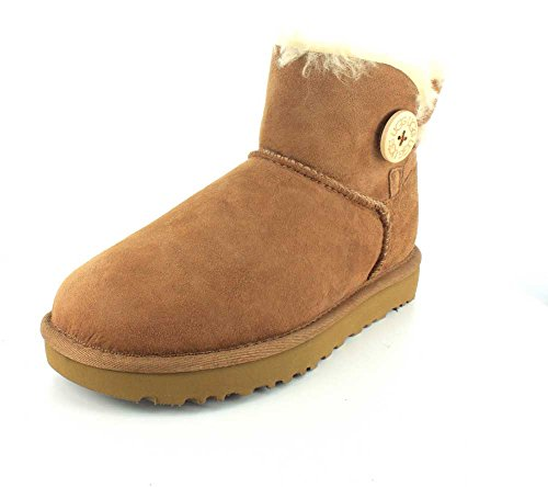 UGG Damen Mini Bailey Button Kurzschaft Stiefel, Braun (Chestnut), 40 EU