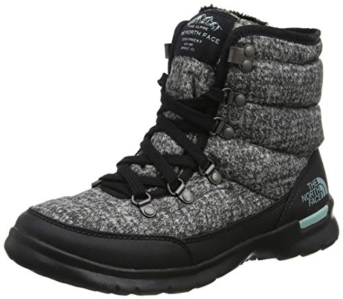 THE NORTH FACE Damen Thermoball Lace Ii Schneestiefel, Grau (Burnished Houndstooth Print/Blue Haze 5qp), 42 EU
