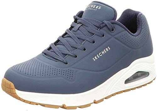 Skechers Herren UNO Stand ON AIR Sneaker, Navy, 41 EU