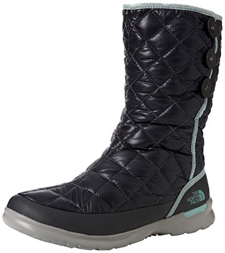 THE NORTH FACE Damen Thermoball Button-up Insulated Schneestiefel, Schwarz (Shiny Blackened Pearl/Blue Haze 5qc), 36 EU