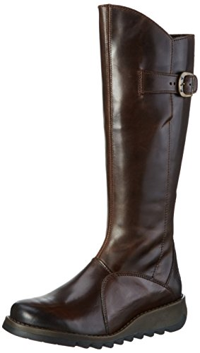 FLY London, Damen Mol 2 Langschaft Stiefel, Braun (Dkbrown 004), 38 EU