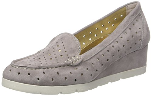 Stonefly Damen Milly 6 Goat Suede Plateaupumps, Beige (Taupe Brown 075), 38 EU