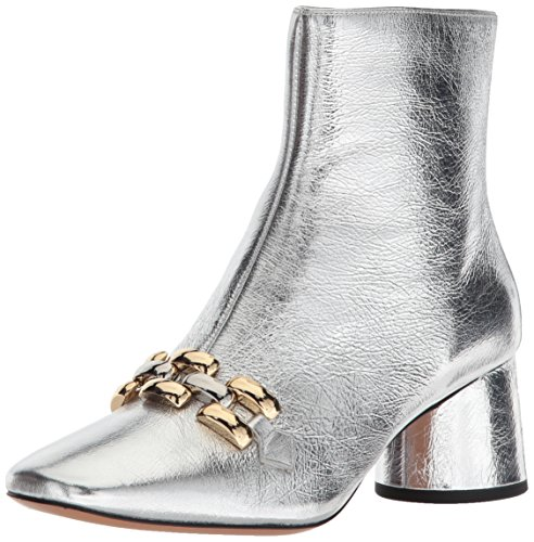Marc Jacobs Damen Remi Chain Link Ankle Boot Stiefelette, Silber, 37 EU