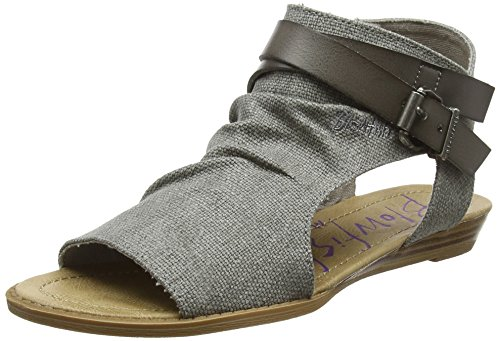 Blowfish Damen Balla Römersandalen, Grey (Steel Grey), 40 EU