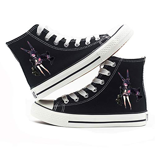 NLJ-lug Black Rock Shooter Unisex Anime Canvas Schuhe Student Casual Sneakers,40