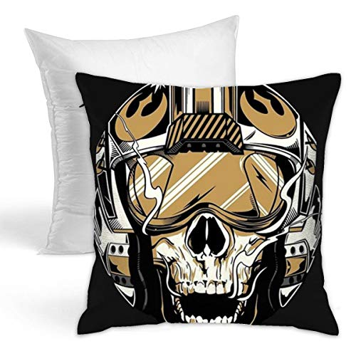 WRFFV Rebel Helm Square Duplex Printing Solid Hold Pillow Household Pillow 16.5' X 16.5'