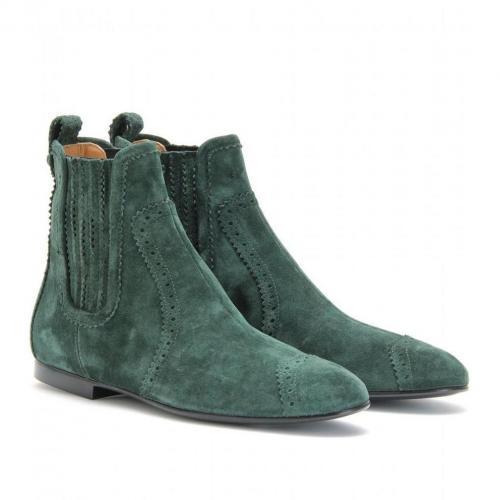 balenciaga ankle boots aus veloursleder. Black Bedroom Furniture Sets. Home Design Ideas