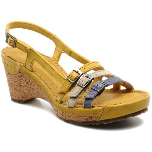 art stylish 119 by art sandalen und sandaletten f r damen gelb designer stiefel. Black Bedroom Furniture Sets. Home Design Ideas