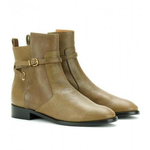 Balenciaga Ankle-Boots aus Leder Greige