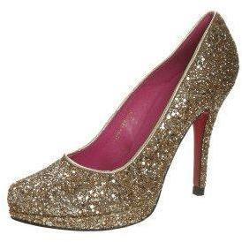 Buffalo High Heel Pumps gold glitter