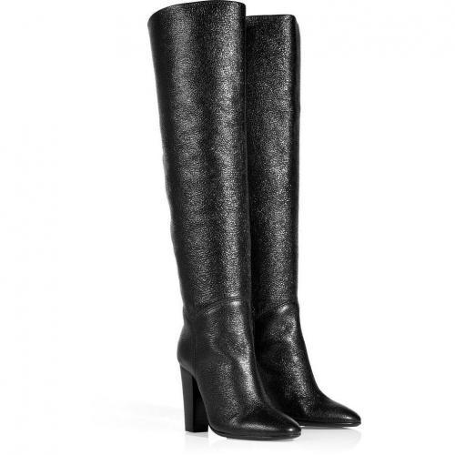 Giuseppe Zanotti Black Embossed Tabloid Boots