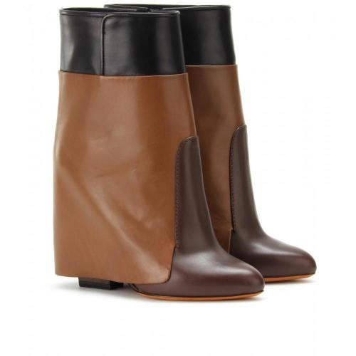 Givenchy Wedge-Ankle-Boots Brown/Black