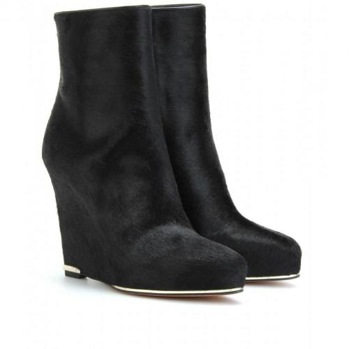 Givenchy Wedge-Booties aus Ponyfell