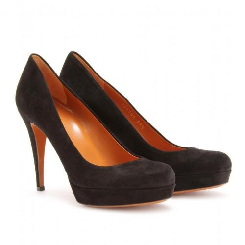 Gucci Betty Plateau-Pumps aus Veloursleder