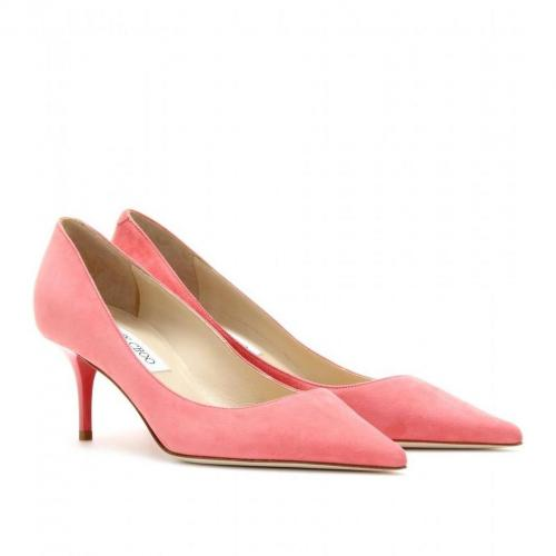 Jimmy Choo Aurora Kitten-Heel-Pumps aus Veloursleder