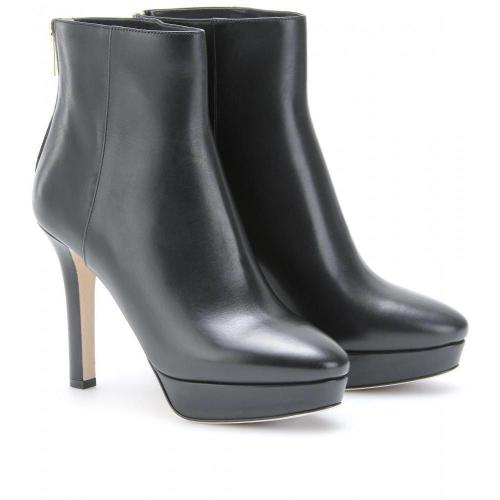 Jimmy Choo Might Plateau-Booties aus Leder
