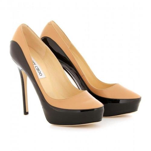 Jimmy Choo Sepia Two-Tone Leder Pumps