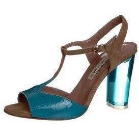 L'Autre Chose Sandalette taupe/turquese