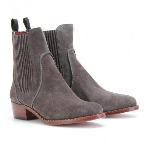 Marc by Marc Jacobs Clippy Chelsea Boots aus Veloursleder