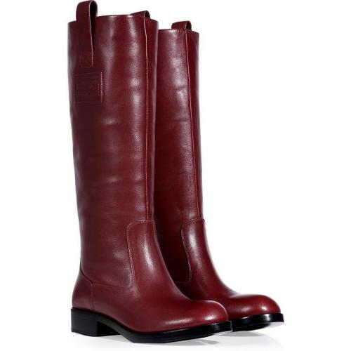 Marc by Marc Jacobs Red Wine Leather Boots