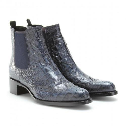 Miu Miu Kroko-Geprägte Chelsea-Boots