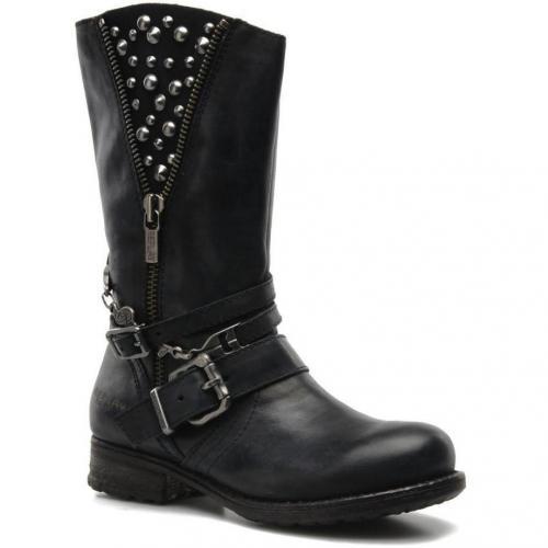 replay olaka by replay boots und stiefeletten f r damen schwarz designer stiefel. Black Bedroom Furniture Sets. Home Design Ideas