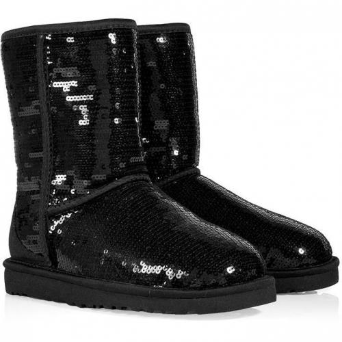ugg australia black sequined classic short sparkles boots. Black Bedroom Furniture Sets. Home Design Ideas