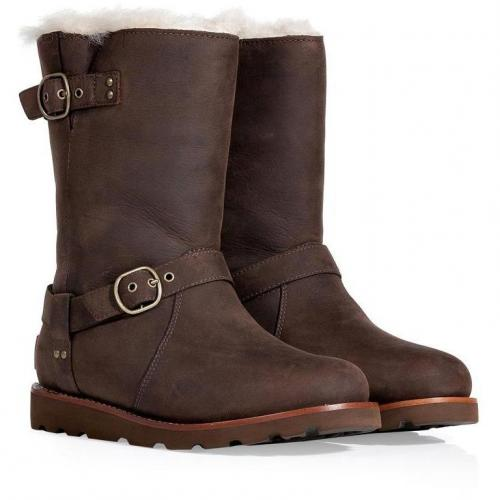 UGG Australia Brownstone Leather Noira Boots